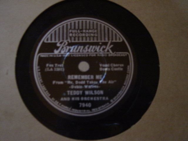 Boots Castle Teddy Wilson - Remember me - Brunswick 7940
